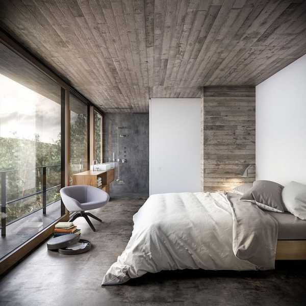La maison plain pied moderne for Maison moderne interieur