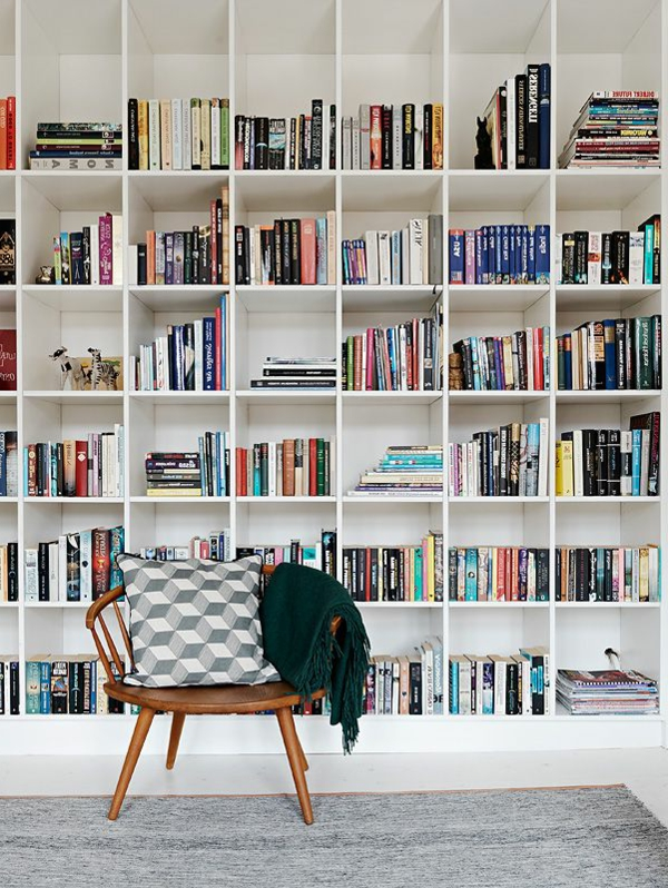 Designs cr atifs de meuble biblioth que for Amenagement bibliotheque salon