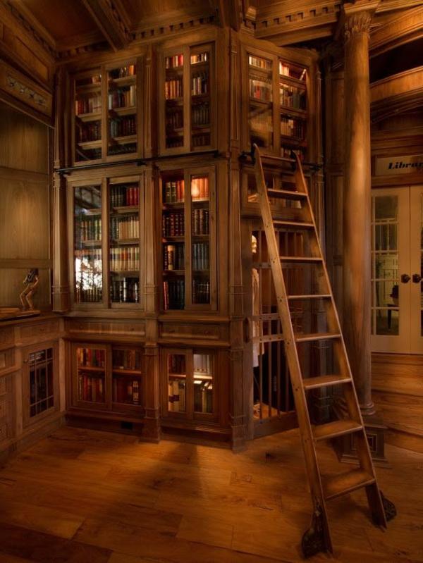 meuble-bibliothèque-avec-vitrines