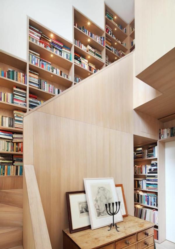 meuble-bibliothèque-bibliothèque-autour-de-l'escalier