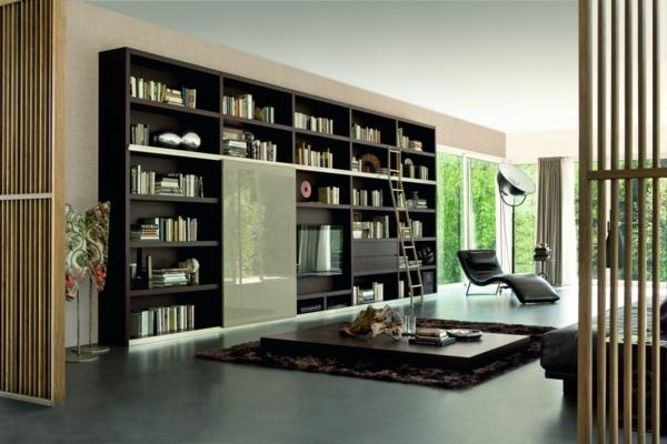 meuble-bibliothèque-bibliothèque-murale-contemporaine