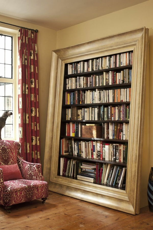 meuble-bibliothèque-comme-un-miroir