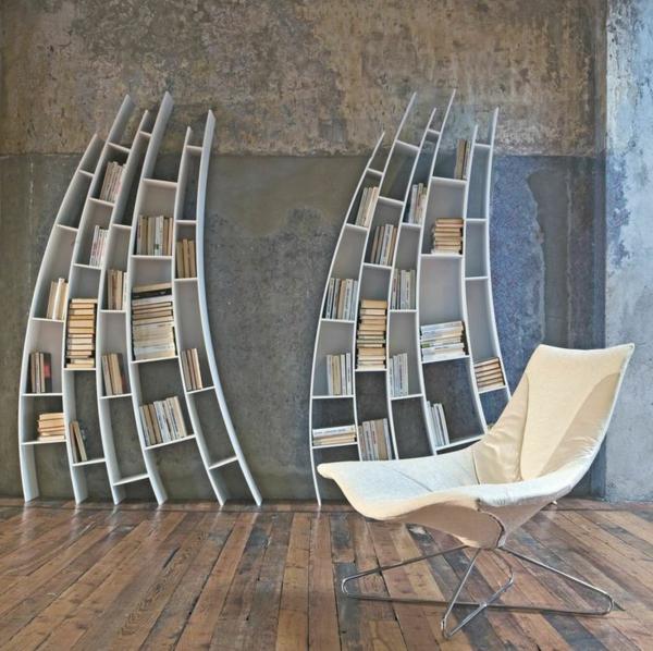 meuble-bibliothèque-deux-bibliothèques-inclinées