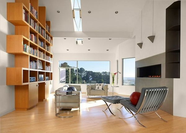 meuble-bibliothèque-en-bois-clair