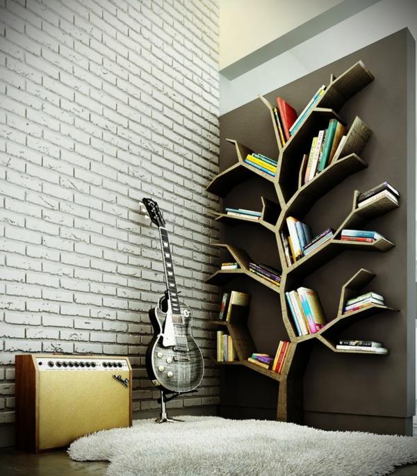 meuble-bibliothèque-en-forme-d'arbre
