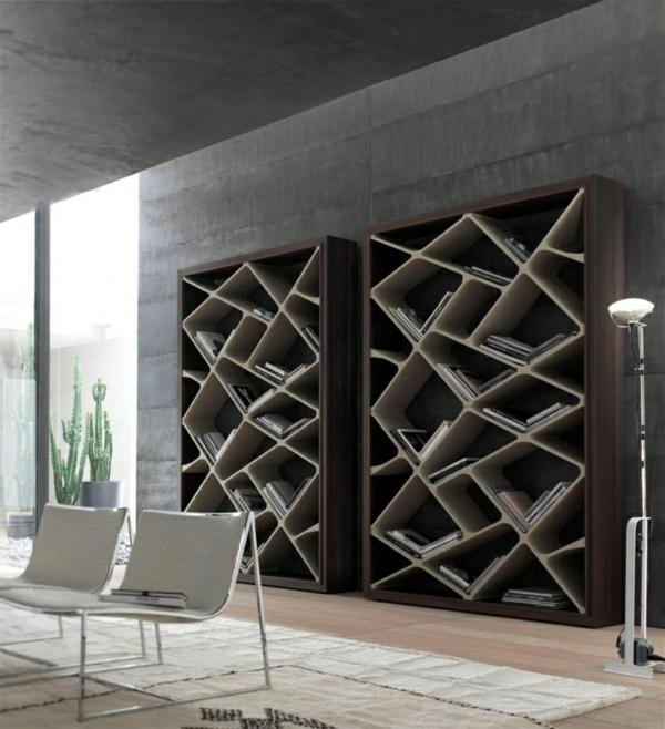 meuble-bibliothèque-futuristique