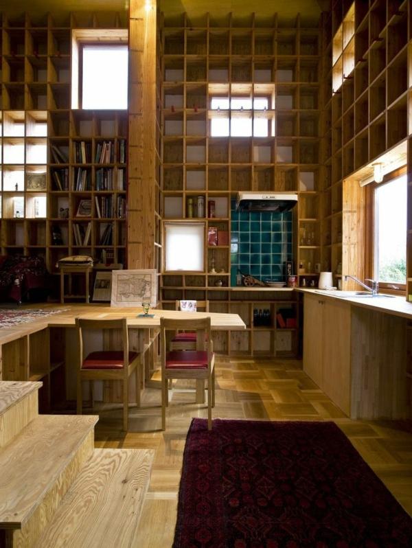 Designs cr atifs de meuble biblioth que Bibliotheque murale enfant