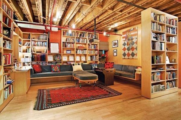 meuble-bibliothèque-intérieur-chaleureux