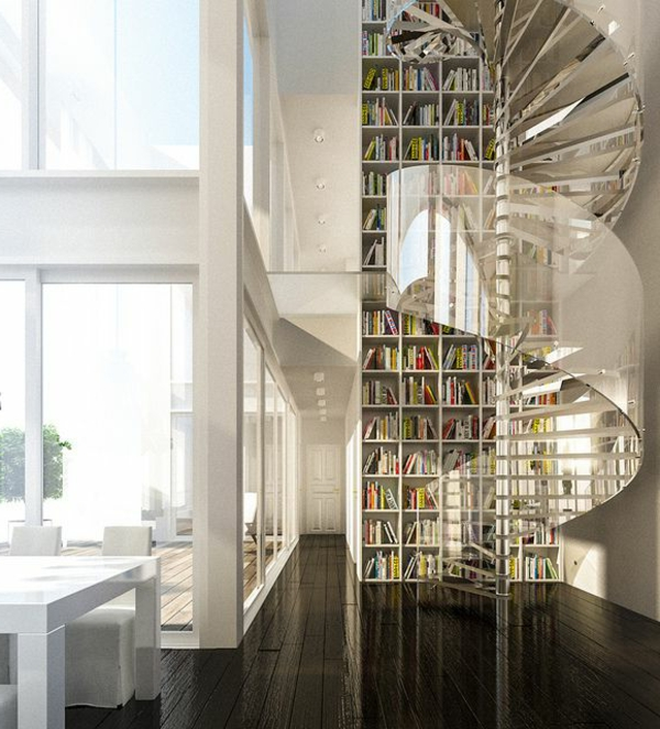 meuble-bibliothèque-intérieur-de-maison-moderne