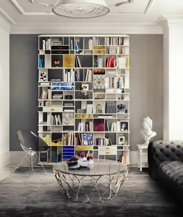 meuble-bibliothèque-rangement-de-livres-créatif