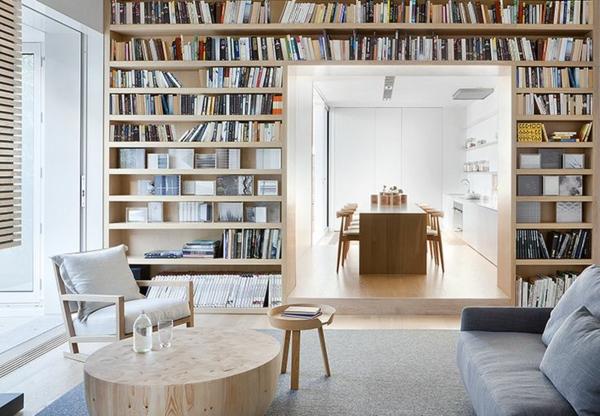 meuble-bibliothèque-salle-de-séjour-et-salle-de-déjeuner