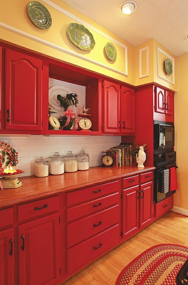 Meuble Cuisine en Bois Rouge images ~ Meuble De Cuisine En Bois Rouge