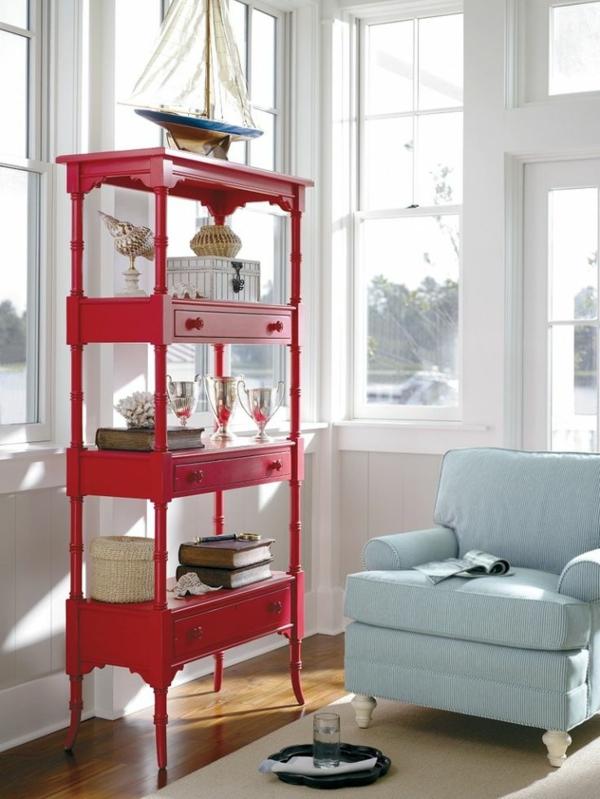 meuble-rouge-bois-salon-confortable
