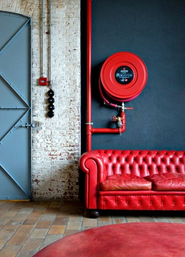 meuble-rouge-chambre-tapis-rouge