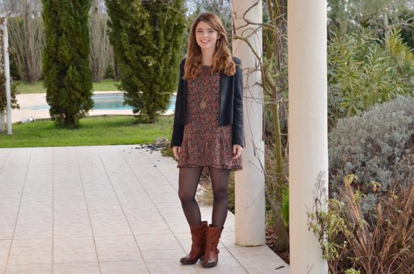 mode-tenue-hiver-bohème-bottines-cuir-camel-monchausseur-veste-noire ...