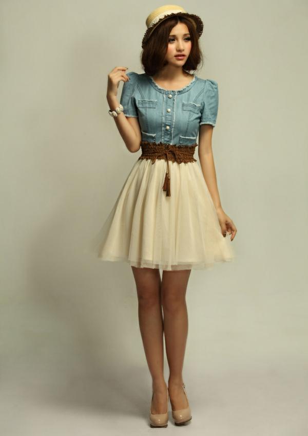 nouveau-vintage-Chic-summer-robe-trapeze
