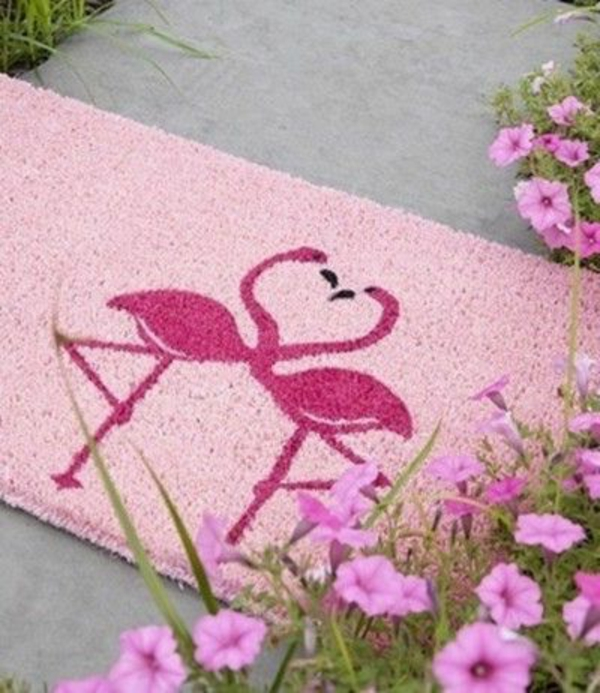 paillasson-rose-original-avec-flamingos