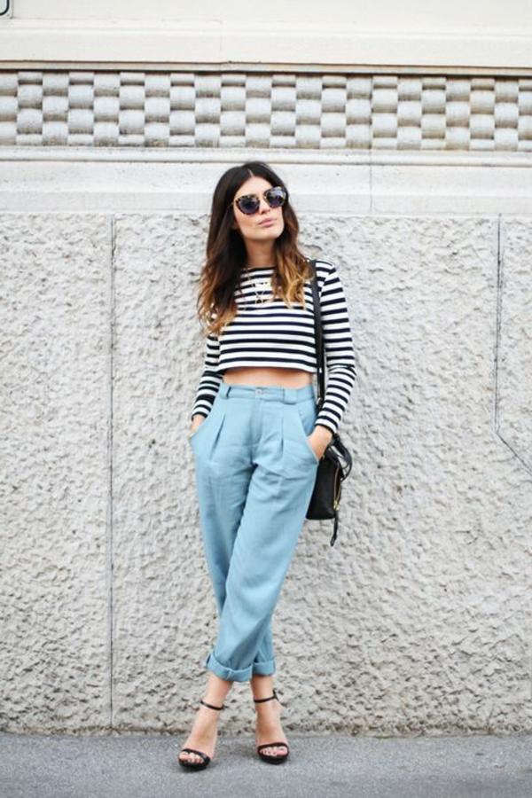 pantalon-classique-taille-haute-bleu