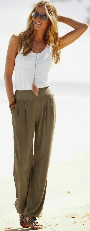 pantalon-plage-taille-haute-vert