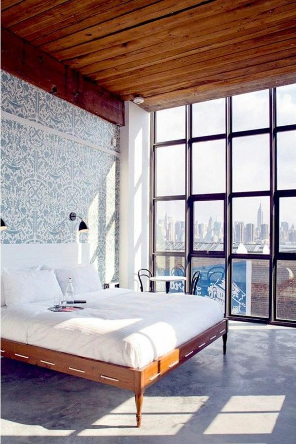 papier-peint-chambre-à-coucher-design-sur-le-mur