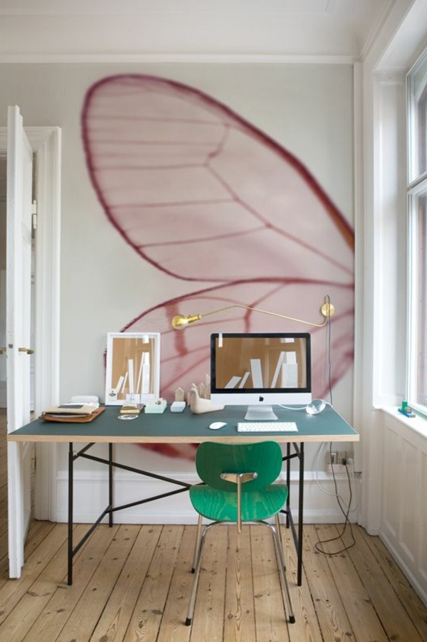 papier-peint-leroy-merlin-papillon-vol