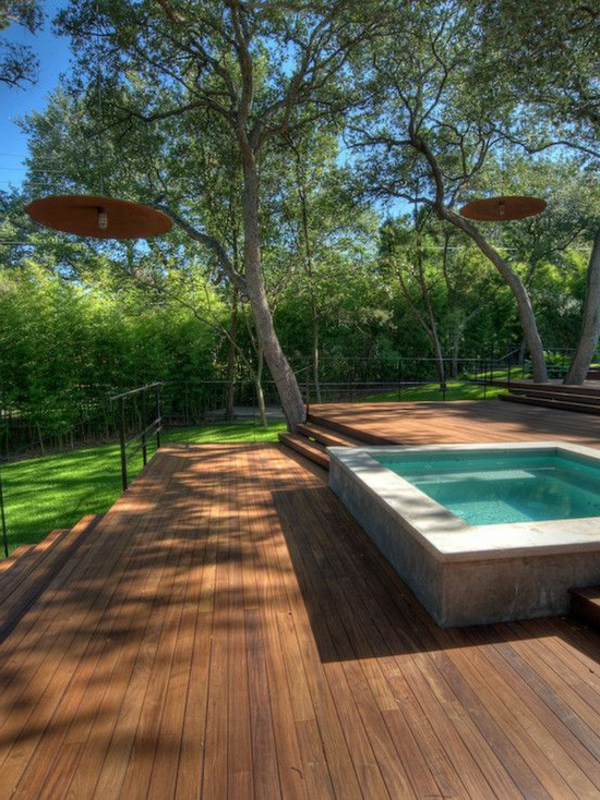 La petite piscine hors sol en 88 photos for Piscine hors sol et terrasse bois
