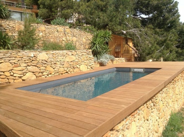 Piscine hors sol design for Terrasse piscine pas cher
