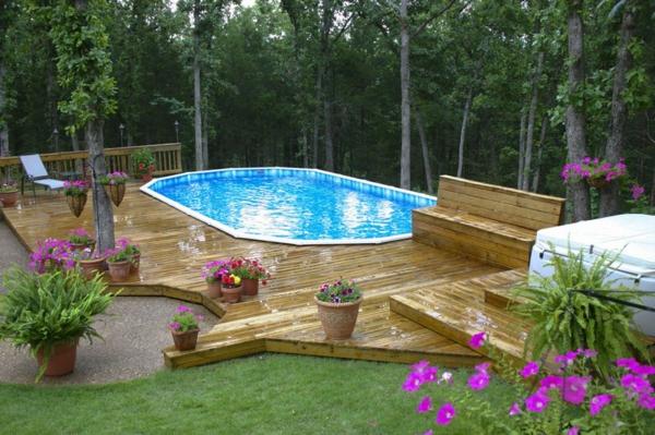 Plateforme pour piscine hors sol best intgration piscine hors sol cration de la piscine et de - Plateforme pour piscine hors sol ...