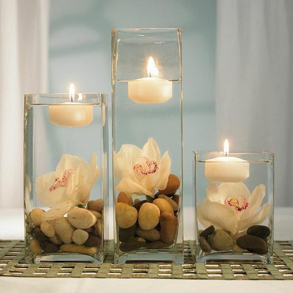 piece-centrale-table-décoration-bougie-Bougie-flottante-inspiration-pour-votre-déco