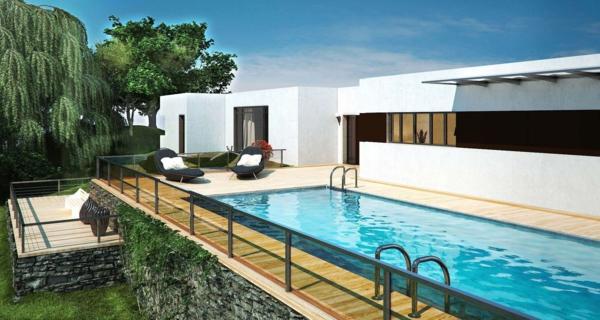 piscine maison contemporaine maison plain pied moderne - Photo Maison Contemporaine Plain Pied