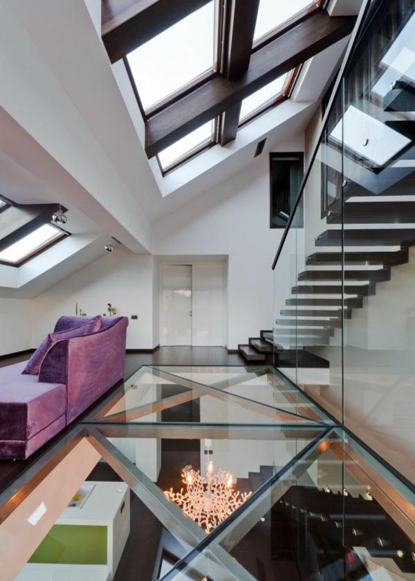 plancher-de-verre-et-escalier-loft-intérieur-stupéfiant