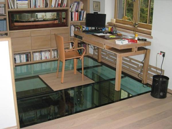 Un plancher de verre inspir s par la transparence - Plaque de verre bureau ...
