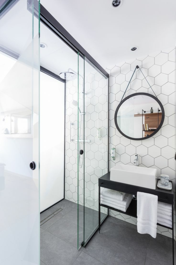 Porte verre salle de bain les derni res for Porte salle de bain en verre