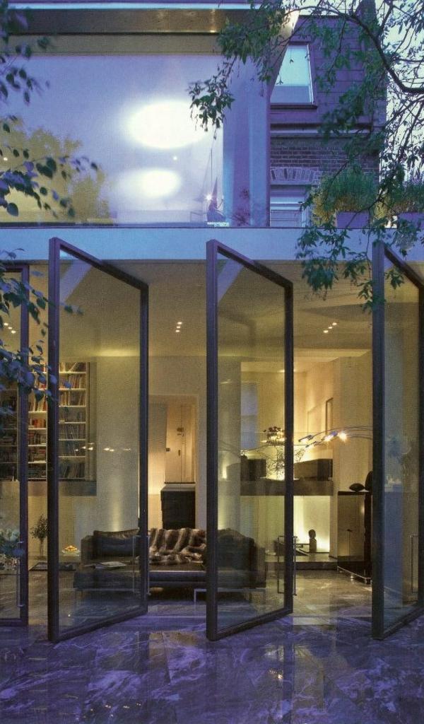 portes-en-verre-modernes-extérieur