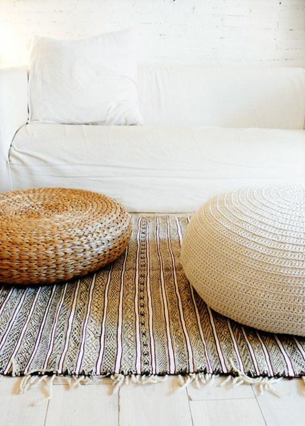 Le pouf au crochet - confort et beauté à la maison - Archzine.fr