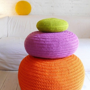 Le pouf au crochet - confort et beauté à la maison