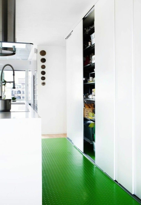 revêtement-de-sol-mosaïque-vert