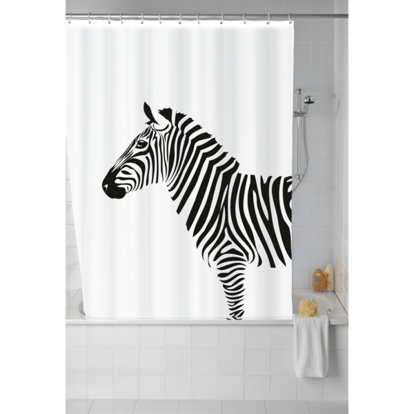 rideau-de-douche-original-idées-créatives-zebre