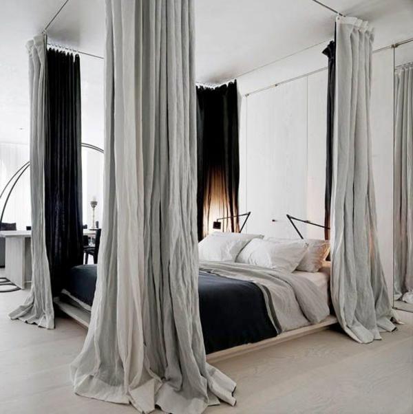 rideau-de-lit-gris-chambre-coucher