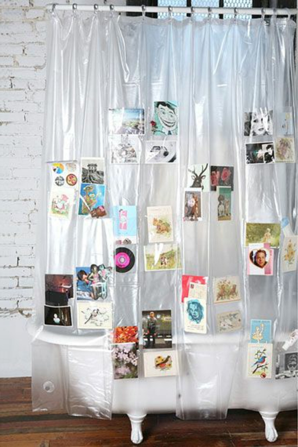 60 id es pour votre rideau de douche original for Rideau de douche petite largeur