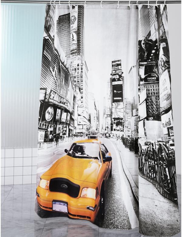60 id es pour votre rideau de douche original - Petit rideau new york ...