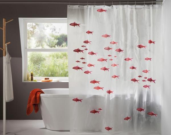 60 id es pour votre rideau de douche original - Rideau pour salle de bain ...