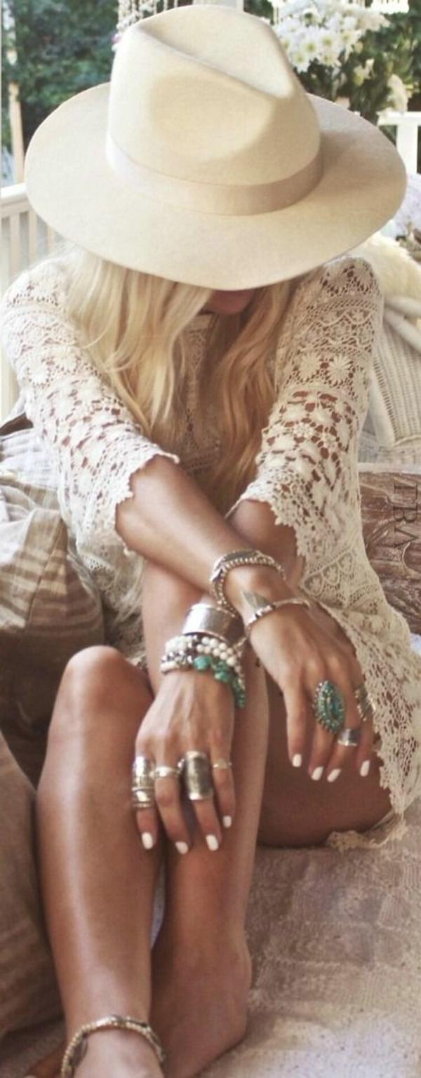 robe-blanche-crochet-style-bohème-chic