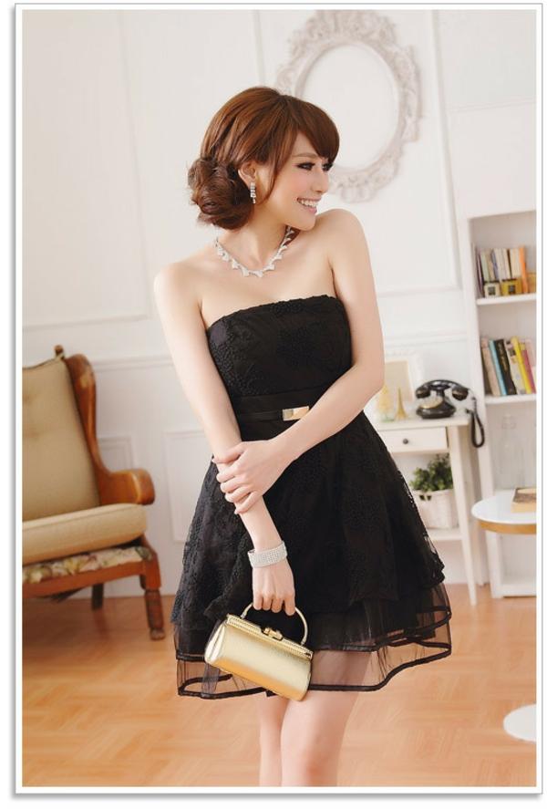 robe-de-soirée-noire-courte-pour-femme