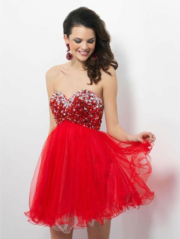 robe-de-soirée-pas-cher-courte-rouge