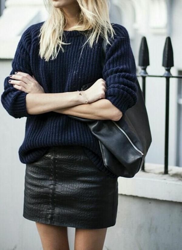 robe-en-cuir-noir