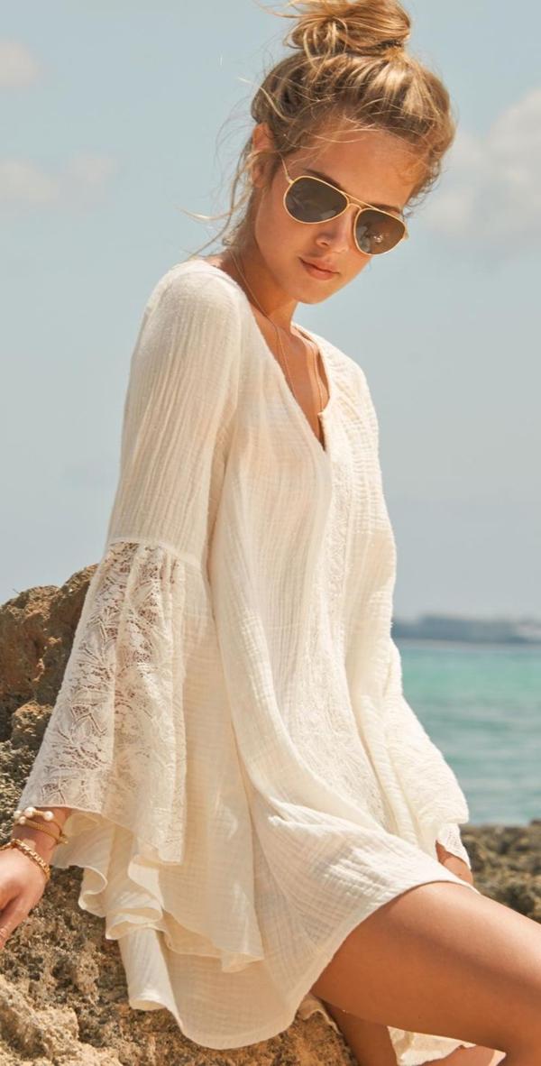Comment portet la robe hippie chic for Robes maxi pour mariage sur la plage