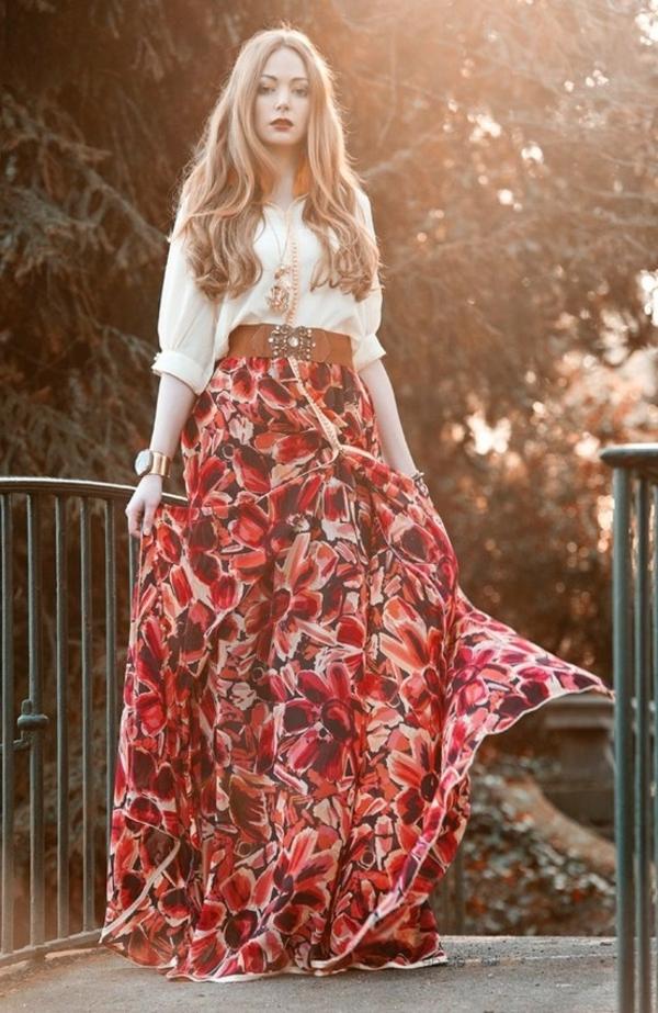 robe-hippie-chic-stylée-et-florale