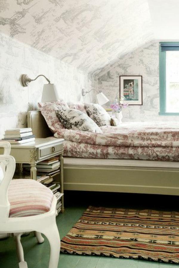 salle-a-coucher-intérieur-vintage