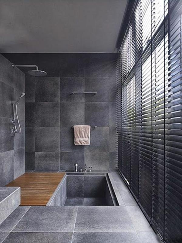 Une salle de bains grise l gance et chic contemporain - Interieur salle de bain moderne ...